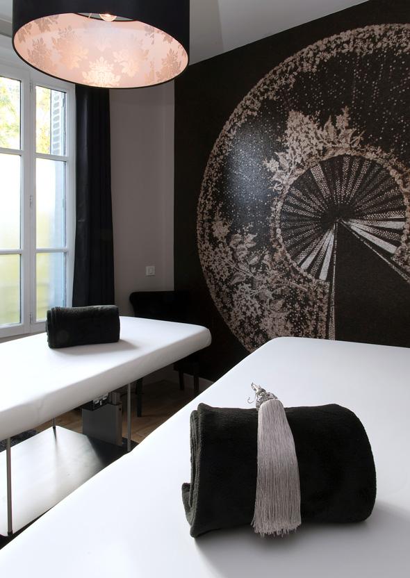 Tables de massage, ambiance cosy